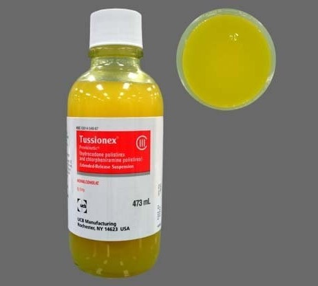 Tussionex cough syrup street value